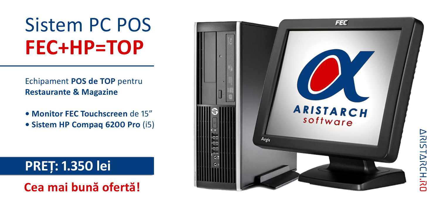 Banner Sistem-PC-POS-monitor-touchscreen-Intel-i5 - Restaurant-Magazin-Aristarch Software