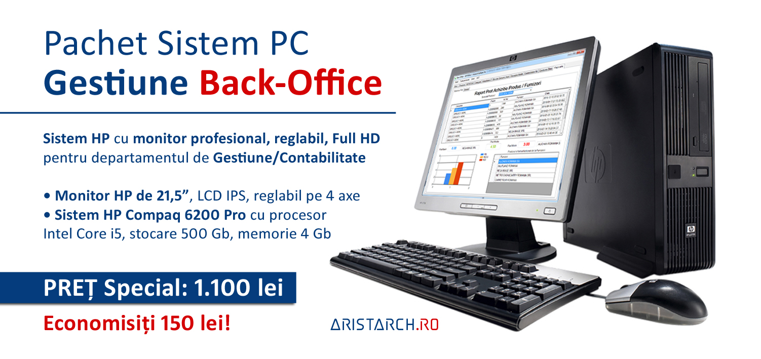 Sistem PC Back-Office Gestiune - Restaurant-Magazin - SoftOK - Aristarch Software