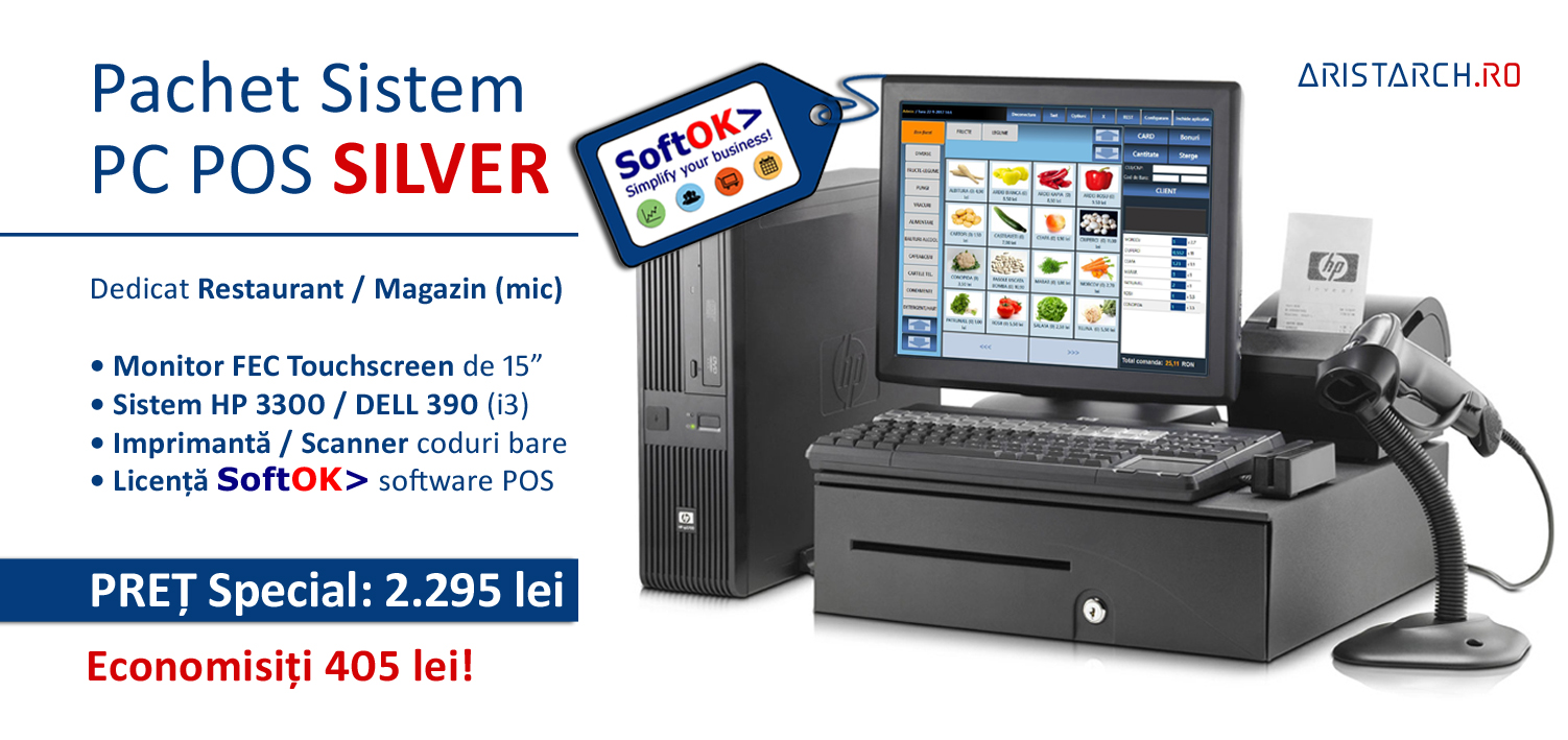 Sistem PC POS Silver - Restaurant-Magazin - SoftOKro - Aristarch Software